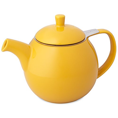 FORLIFE Curve Teapot with Infuser, 24-Ounce, Mandarin