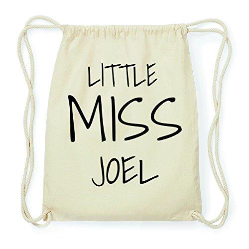 JOllify JOEL Hipster Turnbeutel Tasche Rucksack aus Baumwolle - Farbe: natur Design: Little Miss 1ewHg