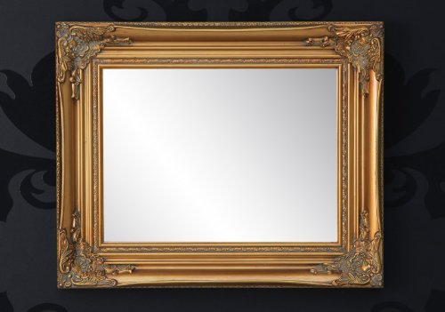 Handmade Baroque wall mirror antique gold, height 55 cm, width 45 cm, depth 4 cm