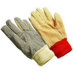 Women's Black Dots Canvas Glove 8 - 8 Glove Ounce Canvas