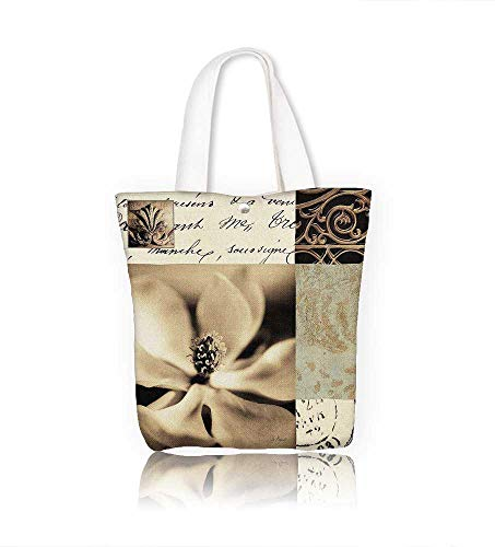 (Canvas Tote Bag Flaxen Silhouette by Aparicio Hanbag Women Shoulder Bag Fashion Tote Ba W12xH7.8xD3 INCH)