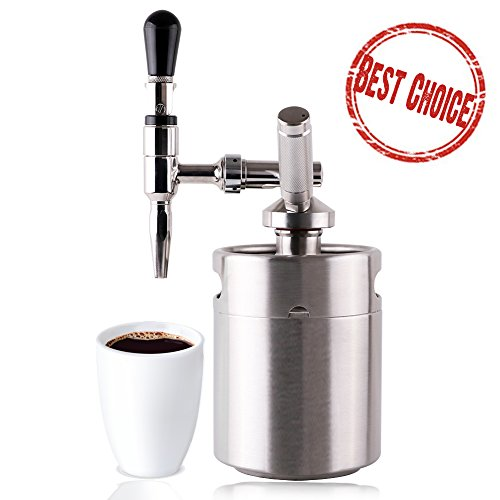 Lymor 64 Ounce Mini Stainless Fortify Homebrew Coffee Keg System Kit, Nitro Cold Brew Coffee Maker, Best Gift for Coffee Lovers