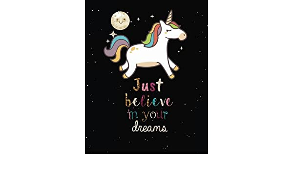 Unicorn notebook journal for Girls Journal 132 Pages of 8x10 Blank Lined Notebook Journal Daily Planner Diary