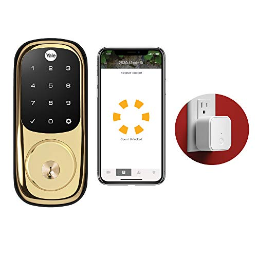 Yale Security YRD226-CBA-605 Assure Connected by August Touchscreen Smart Lock, Polished Brass