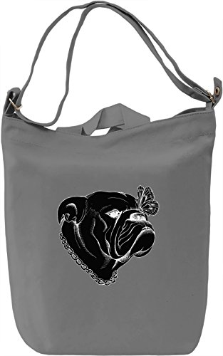 Dog And Butterfly Borsa Giornaliera Canvas Canvas Day Bag| 100% Premium Cotton Canvas| DTG Printing|