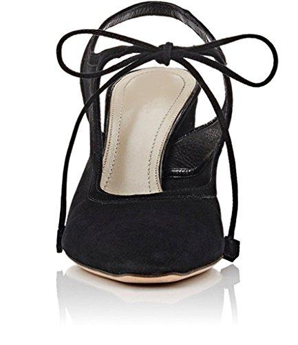 Vestir 11sunshop Zapatos de Mujer negro de Ante SrEqr