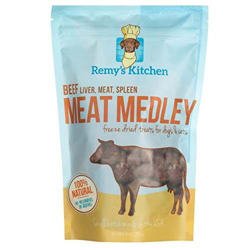 (Remy's Kitchen Beef Meat Medley Freeze Dried Treats for Dogs and Cats )