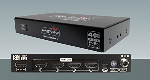 Avenview SPLIT-HDM2-T4K-4 1x4 HDMI TRUE 4K@60 18Gbps (600MHz) SPLITTER WITH EDID & HD SUPPORT by Avenview