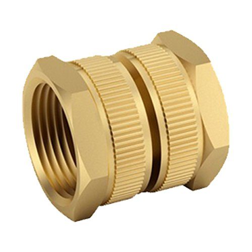 Brass Garden Hose Fittings-3/4 Hose Female Dual Swivel - Pack of 5 ()