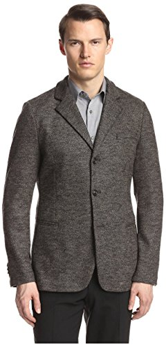GIORGIO ARMANI Men's Mottled Sportcoat Grey ()