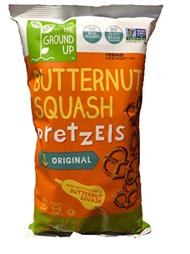From the Ground Up Butternut Squash Sea Salt Pretzels, 4.5 oz Bags (Pack of 12) (Twists) ()