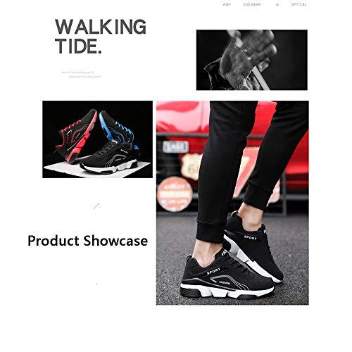 43 De Invierno Casuales Los Running Otoño Zapatos Black black Cuero Antideslizante H Zapatillas Hombres l REqwYAaHO