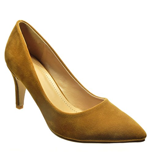 Angkorly - damen Schuhe Pumpe - Stiletto - Sexy Stiletto high heel 8 CM - Camel