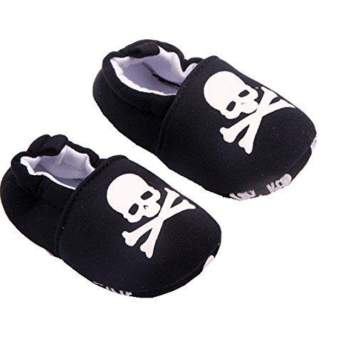 xhorizon TM FLK Baby Boys Girls Black Skull Toddler Sport Casual Shoes