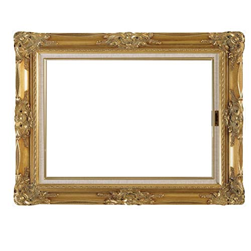 MMYU Photo Frame DIY Paper Picture Frame Cutouts Antique Photo Booth Props for Wedding Birthday Party (Gold)