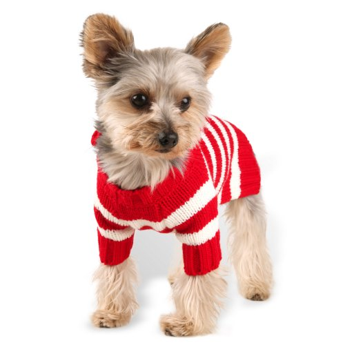 (Stinky G Red Stripe Hoodie Dog Sweater Size #08)