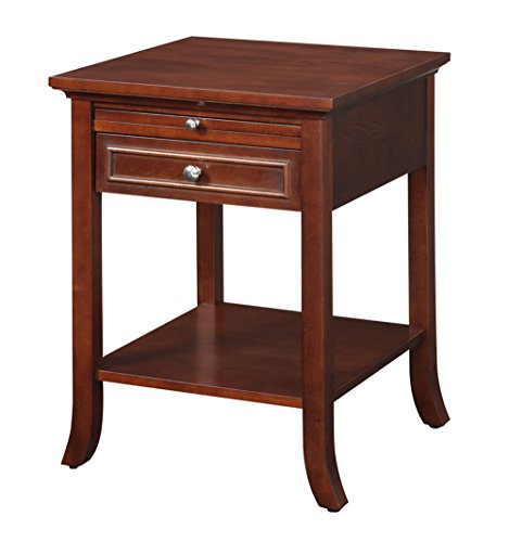 Convenience Concepts American Heritage Collection Logan End Table with Drawer and Slide, Mahogany (American Heritage Hall Table)