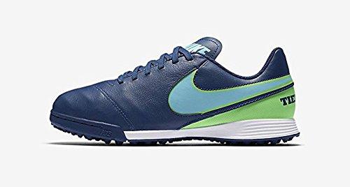 Nike 819191-443, Botas de Fútbol para Niños Azul (Coastal Blue / Polarized Blue-Rage Green)