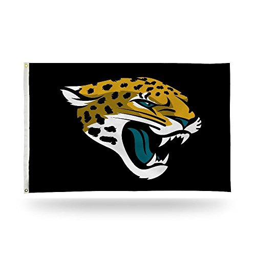 Rico NFL Jacksonville Jaguars 3-Foot by 5-Foot Single Sided Banner Flag with Grommets