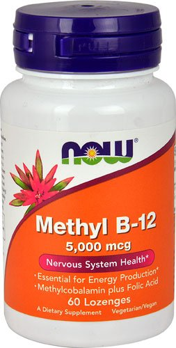 NOW Foods Methyl B-12 -- 5000 mcg - 60 Lozenges - 3PC by NOW Foods