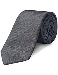 "100% Silk Textured Solid Color Men's Skinny Tie 2.5""/3'' Necktie"