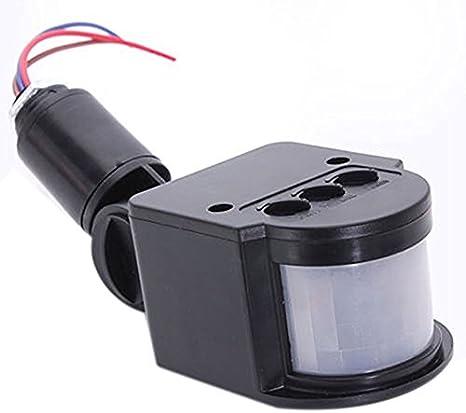 Noir Sécurité PIR Infrarouge Détecteur de mouvement détecteur extérieur murale lampe nouveau