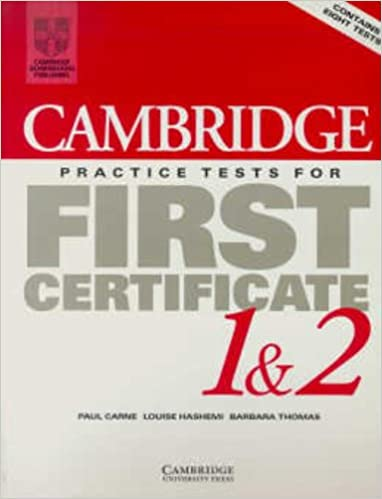 Book Cambridge Practice Tests for First Certificate 1 and 2 Student's book: Student's Book Bk. 1 & 2 (FCE Practice Tests)