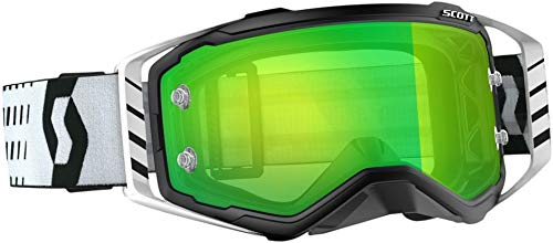 Scott Prospect Adult Off-Road Motorcycle Goggles - Black/White/Green Chrome Works/One Size