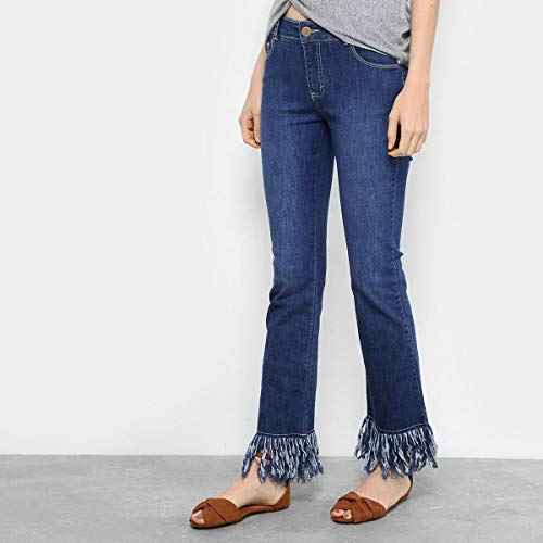 Calça Jeans Flare Drezzup Cintura Média Feminina - Jeans - 36