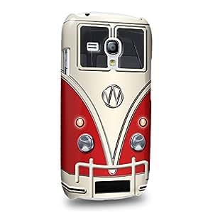Case88 Premium Designs Red Retro Volkswagen Mini Van VW Bus Carcasa/Funda dura para el Samsung Galaxy S3 mini (No Normal S3 !)