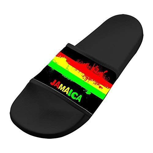SsSEYYA Anti-Slip Indoor Floor Sandal Bath Slipper Jamaica for Women Men Black Women 7 (M) US (Sonnenbrillen Online Shop)