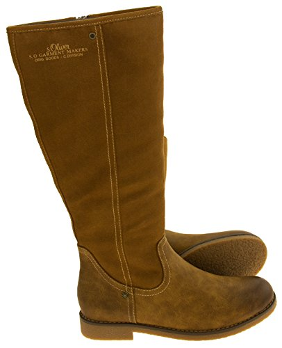Oliver Brown Light Tan Faux S Brown Boots Womens Wedge Leather USqzwx