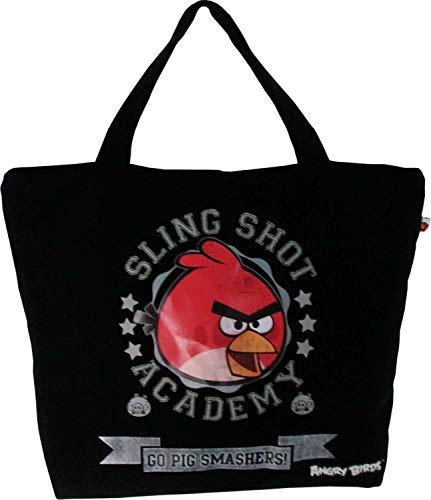 Bolsa Shopping Bag Angry Birds 01 Bolso Estampa Personalizada Preta - Santino