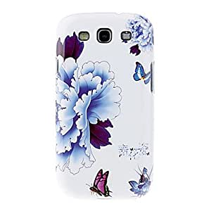AES - Blue and White Porcelain with Peony Pattern Hard Back Case Cover for Samsung Galaxy S3 I9300
