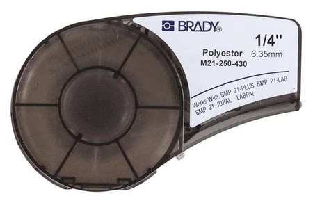 Brady M21-250-430 Cartridge, B430 Clear Polyester Material,