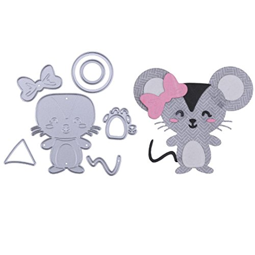 Metal Cutting Dies for Card Making, Staron Cute Animals Cutting Dies Embossing Die Cuts Scrapbooking Cutting Dies Stencil Metal Mould for DIY Scrapbook Embossing Album Cards Craft (G)