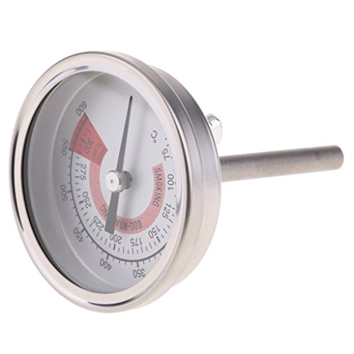 Homyl Dual Display Stainless Steel Oven Grill Thermometer Meat Cooking BBQ Probe 75°C – 300°C/150°F – 600°F