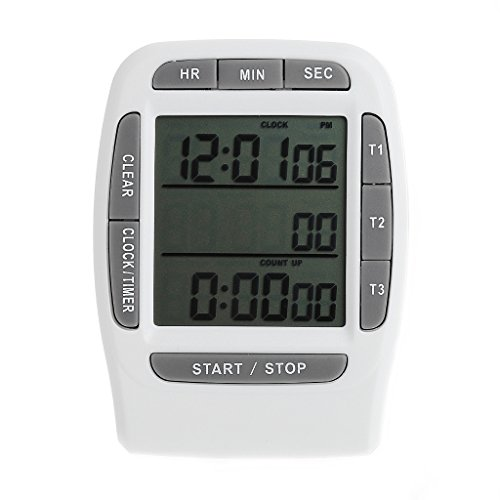 Digital LCD Multi-Channel Timer CountDown Laboratory 3 Channel Timers 99 Hours
