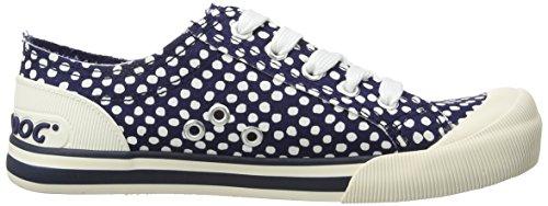Womens Navy Rocket 6 Canvas Sneakers Dog Jazzin UK 5qq6Ewx