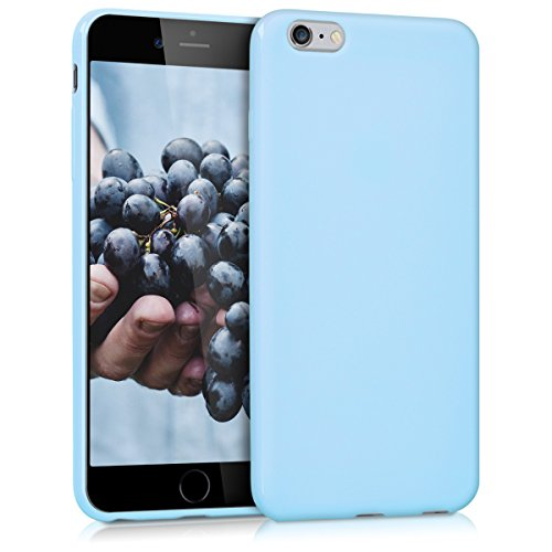 kwmobile TPU Silicone Case for Apple iPhone 6 Plus / 6S Plus - Soft Flexible Shock Absorbent Protective Phone Cover - light blue matte ()