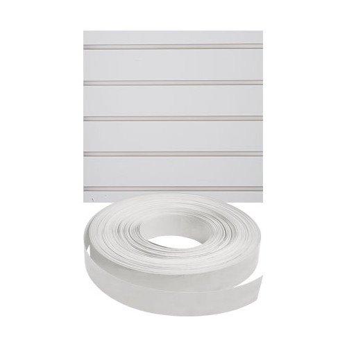 New Retails White Vinyl Finished Slatwall Insert 130'length by Slatwall Insert