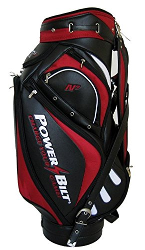 NEW PowerBilt Golf Air Force One N7 Air Foil Staff Bag 6-way Top Red / Black (Powerbilt Air)