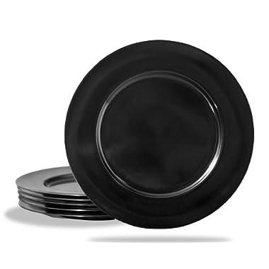 Reston Lloyd Black Melamine Dinner Plate, Set of 6
