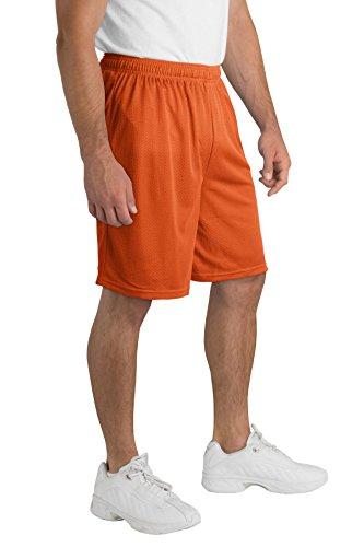 Sport-Tek PosiCharge Classic Mesh Short. ST510 Deep Orange M