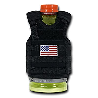 USA US American Flag Patriotic Tactical Vest Beer Military Bottle Can Cooler Keeper Holder Sleeve Beverage Carrier