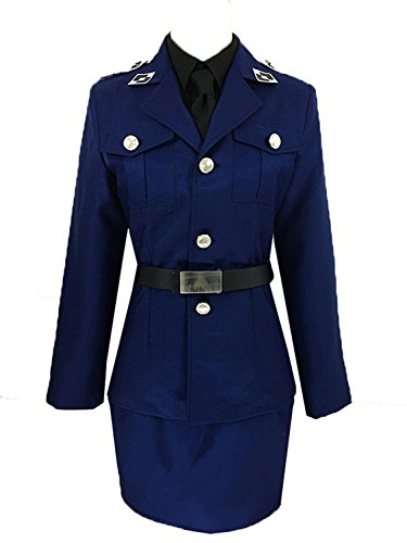 LYLAS Women's Dress Uniform Navy Blue Outfits Cosplay Costume (Female-L) -