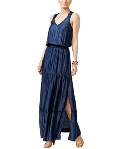 (INC International Concepts Lattice-Back Maxi Dress (Jive Wash, XL))
