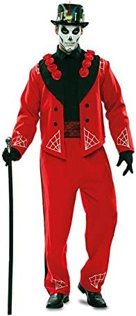 Disfraz de Novio del Día de los Muertos Rojo para hombre: Amazon ...