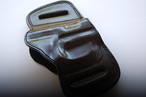 cal38 Handcrafted Leather Belt Slide Holster for Sig Sauer 1911 Colt 1911 sw 1911 Ruger SR1911 Kiber 1911 Taurus 1911 (Black)