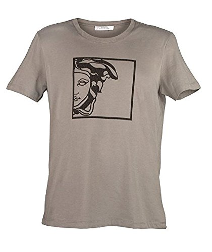 Versace Collection Men's Black V-neck Medusa T-shirt - Versace Logo Medusa